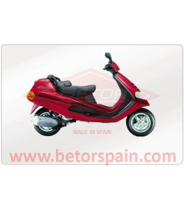 Piaggio Hexagon 125 Gas Red